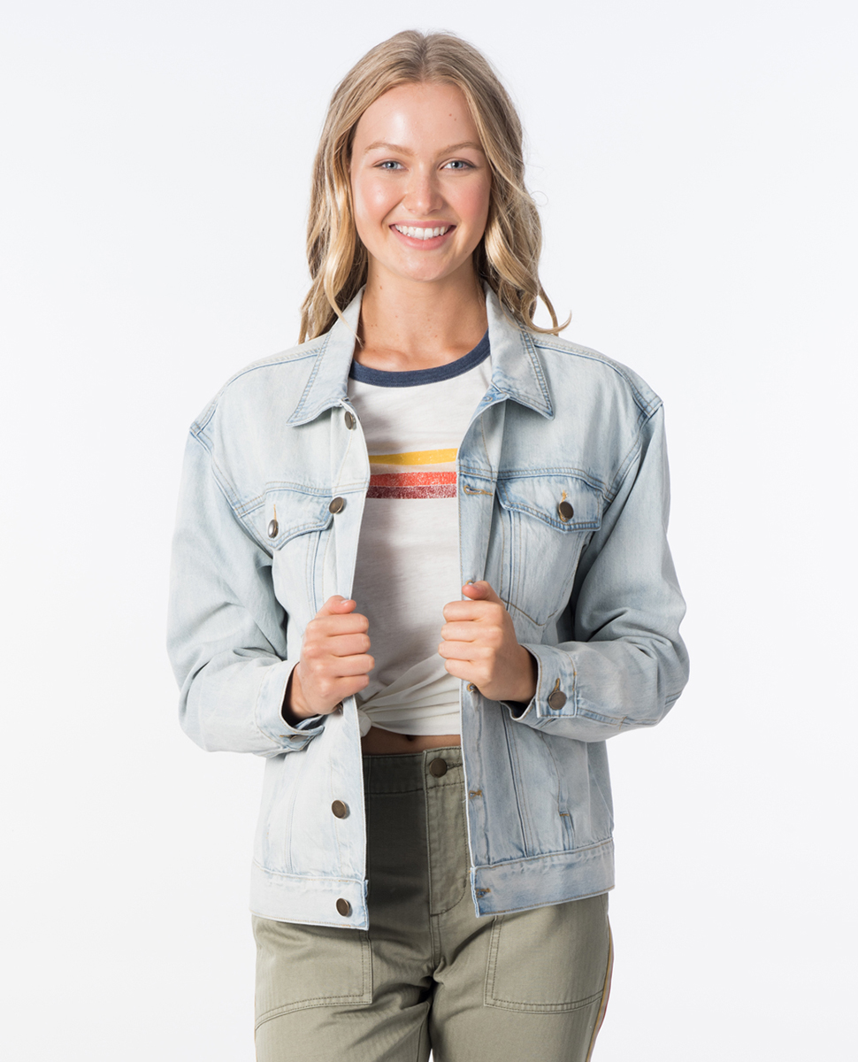 online here detailed images utterly stylish Keep On Surfin Denim Jacket | Womens Beach Jackets | Rip Curl ...