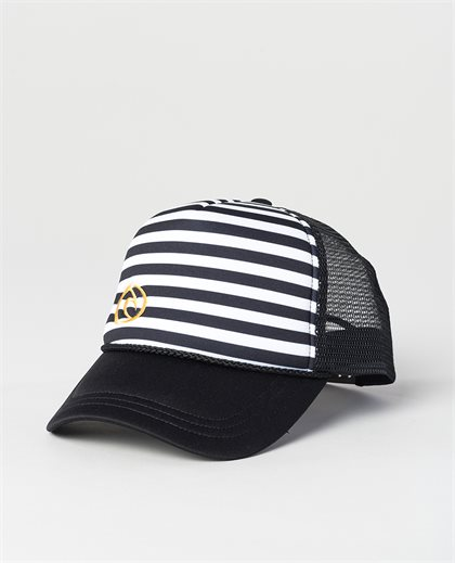 Iconic Stripe Trucker