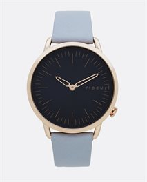 Super Slim Rose Gold Leather Watch