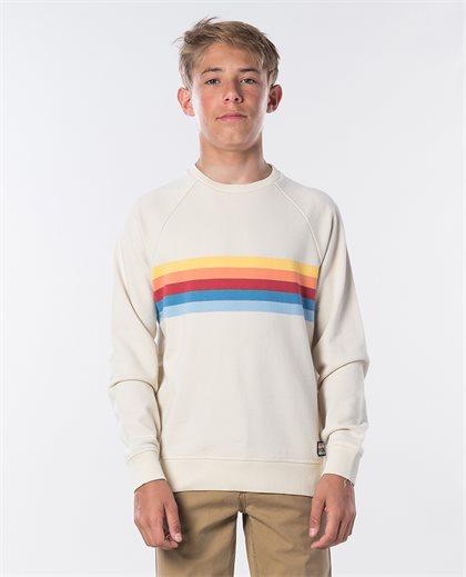 Yarn Dyed Stripe Crew Fleece