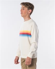 Sweat Yarn Dyed Stripe Crew