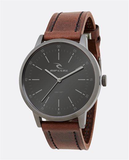 Drake Leather Gunmetal Watch