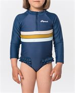 Costume intero a maniche lunghe Mini Surf Revival