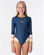 Teen Long Sleeve UV Back Zip Surfsuit