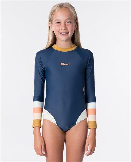 Teen Long Sleeve UV Back Zip Surfsuit