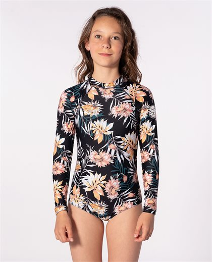Girl Back Zip Long Sleeve Surfsuit