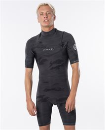 Muta primaverile Dawn Patrol 2mm Chest Zip Short Sleeve