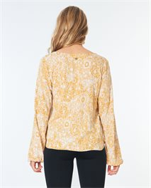 Golden Days Floral Top