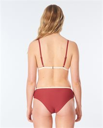 Golden Days Block Triangle Bikini Top