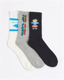 Icons Three Pack Socks