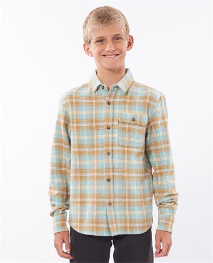 Salt Water Culture Check Long Sleeve Shirt Boy
