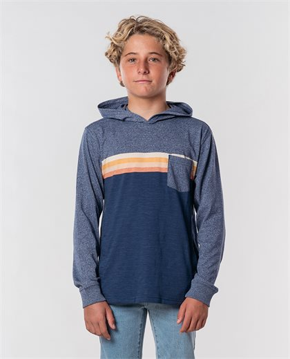 Surf Revival Hood Long Sleeve Tee Boy