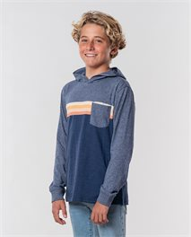 Surf Revival Hood Long Sleeve Tee Boy