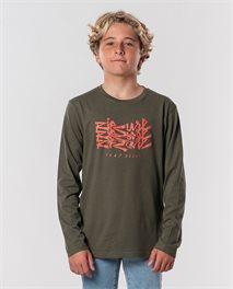 Surf Heads Script Long Sleeve Tee Boy
