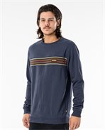Sweat col rond Surf Revival Stripe