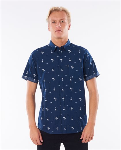 Summer Palm Short Sleeve Shirt