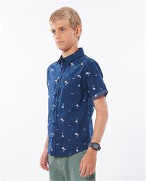 Summer Palm Short Sleeve Shirt Boy