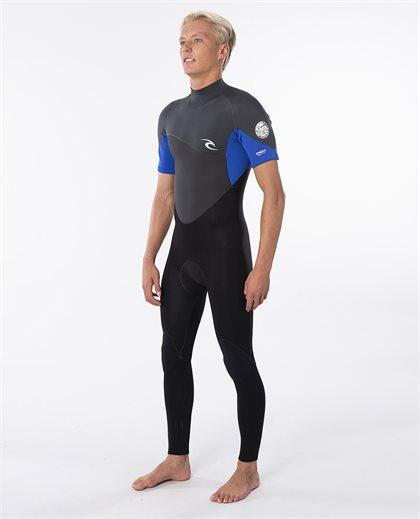 Omega 3/2 Back Zip Short Sleeve Steamer