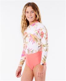 Fato de surf Back Zip Long Sleeve Girls
