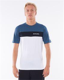 T-shirt Underline Panel Short Sleeve UV