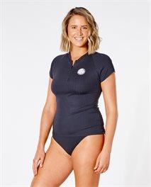Camiseta de manga corta y cremallera Premium Surf